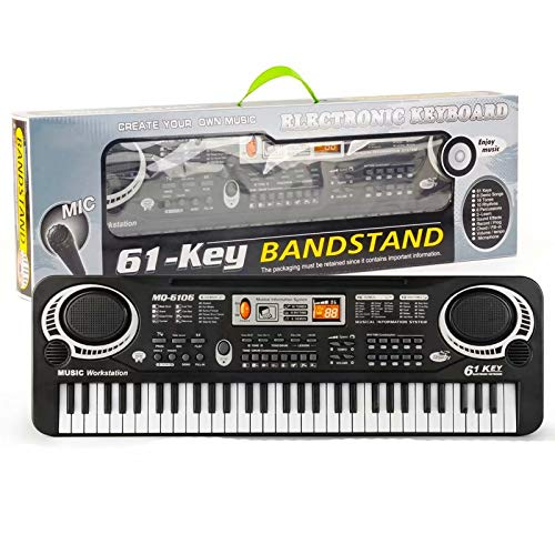 Big Bargain Store 61 Key Keyboard Piano für Kinder Digital Piano Musikinstrumentenset mit Mikrofon Für Jungen Mädchen Kinder Tragbare elektrische Orgel Klavier Lernspielzeug Musik Elektronische