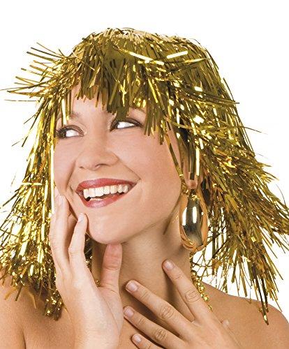 Perruque carnaval folienperücke doré