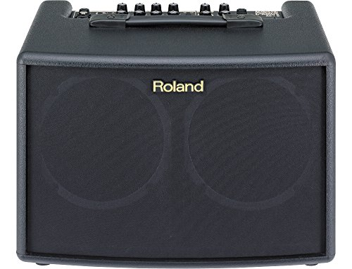 Roland 4 String AC-60 Acoustic Chorus Guitar Amplifier with Dual 30-Watt 6.5-inch Speakers,...