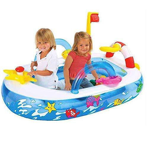 WETERS Aufblasbare Schwimmbecken, Zinsen Kinder Inflation Ball Pool Ship Shape Kunststoff Oceanic Pool Geben Sie 10 Ozean Ball Kinderspielplatz 157 * 102 * 74CM