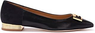 Tory Burch Woman's Gigi Ballerina in Soft Black Nappa and Suede