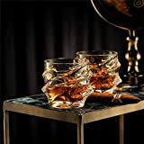 Whiskey Glass Set 4 Rocks Bleifreier Alter Whisky-Schalen-Satz Getränk Fashioned Whiskygläser...