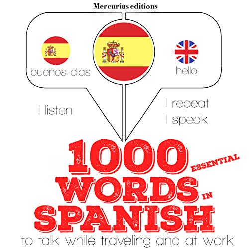 1000 essential words in Spanish  By  cover art
