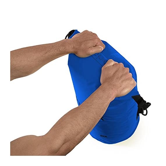 Earth pak -waterproof dry bag - roll top dry compression sack keeps gear dry for kayaking, beach, rafting, boating, hiking, camping and fishing with waterproof phone case 5 reliable protection: we believe our earth pak dry bags are the best out there--bar none. These dry bags are meant to last for years and provide waterproof protection for even the most rugged users. Shoulder strap: 10l & 20l dry bags come with a 24-42 inch single shoulder strap. 30l, 40l, and 55l waterproof backpacks are equipped with backpack style shoulder straps that also come with a sternum strap for added stability. Our new 55l also comes equipped with a heavy duty waist-belt, which relieves added pressure and helps support your load. Ipx8 certified waterproof phone case: we have included our ipx8 certified 6. 5 inch waterproof phone case that will fit even the largest of phones. This case features a very simple snap and lock access that has dual-sided clear windows that allow to take pictures while still inside the case. Suitable for phones up to 6. 5 inches of diagonal screen size.