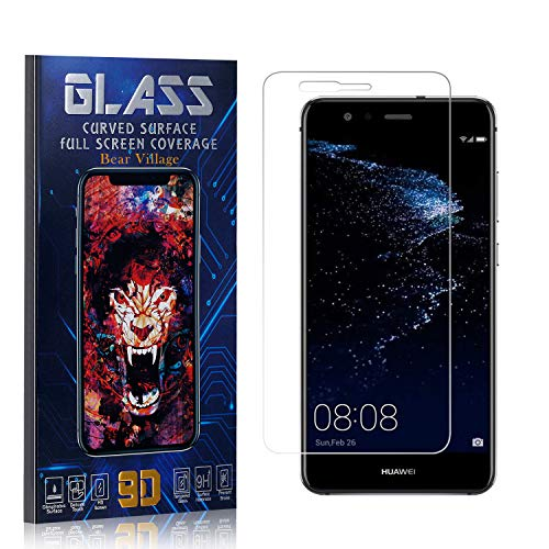 Tempered Glass Screen Protector for Huawei P10 Lite, Bear Village HD Crystal Clear Screen Protector Film for Huawei P10 Lite, Bubble Free, 9H Hardness, 4 Pack