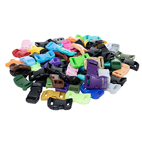 """Paracord Planet 10 Pack of 3//8/"""" Buckles with Assorted Color Kits"""