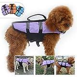 Lovelonglong Dog Lifejacket Life Jackets for Pugs French Bulldog Medium Dogs Swimming Safe Boating...
