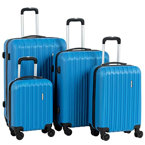 """Murtisol Travel 4 Pieces ABS Luggage Sets Hardside Spinner Lightweight Durable Spinner Suitcase 16"""" 20"""" 24"""" 28"""""""