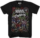Comics Logo Thor Hulk Iron Man Avengers Spiderman Daredevil Strange Loki Thanos Adult Mens Graphic Tee T-Shirt Apparel Black (X-Large)
