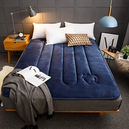 Flanell Wolle Tatami Schlafenden Boden Matte,gesteppter Traditionellen Japanischen Futon Auflage,falten Nicht-slip Pillow-top Bett Matteratzentopper Für Zuhause Schlafsaal-a 100x200cm(39x79inch)