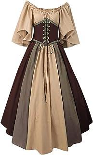 Fossenfeliz Disfraces Medievales Mujer de Bruja Reina,