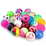 Pllieay 24 PiecesJet Bouncy Balls 25mm Mixed Color Party Bag Filler for Children