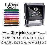 Custom Return Address Stamp, The Johnsons Personalized Self-Inking Address Stamp