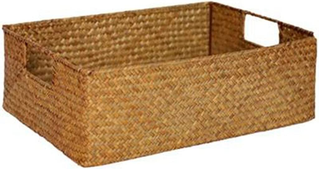 JEZZ Hand-Woven Basket Rattan Wicker Max 42% OFF Tea Year-end annual account Fruit Sna