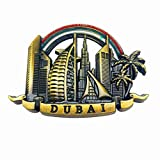 'N/A' Dubai Coastline 3D Imán de Nevera Artesanía Recuerdo Metal Refrigerador Imanes Colección Regalo de Viaje