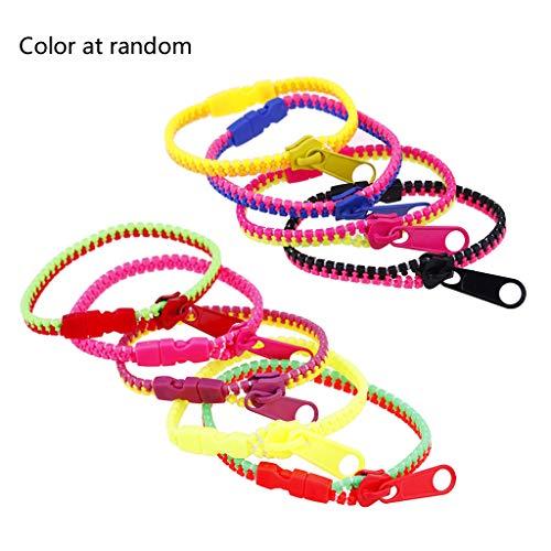 WT-YOGUET Mixed Color Kids Friendship Fidget Zipper Bracelets Sensory Toys Fashion Jewelry