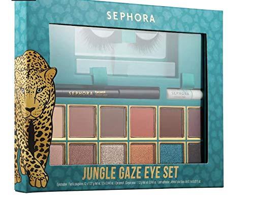 Sephora Jungle Gaze Eye Set - Eyeshadow Palette, False Eyelash Extensions, Eyeliner Crayon Black