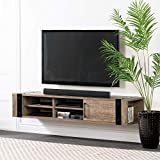 South Shore Munich 68' Wall Mounted Media Console-Weathered Oak