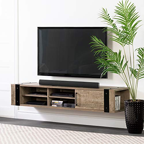 "South Shore Munich 68"" Wall Mounted Media Console-Weathered Oak"