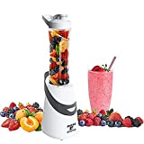 Personal Blender Single Serve Shake & Smoothies Maker with Portable Travel Sport Bottle - Mini Juicer by Moss & Stone (300 Watts)