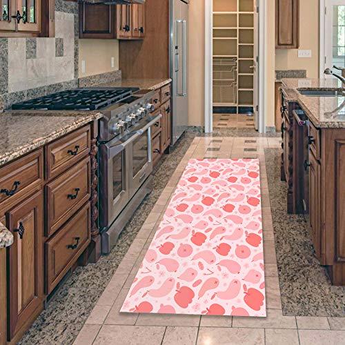 OPLJ Alfombra de Cocina Simple, vajilla, Alfombrilla de Frutas para el Suelo, alfombras para Puerta, alfombras de Entrada, alfombras y alfombras para el hogar A2 50x160cm