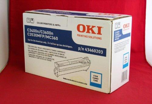 Cyan Drum Kit for Okidata C3400, C3530n & C3600n Printer, 43460203