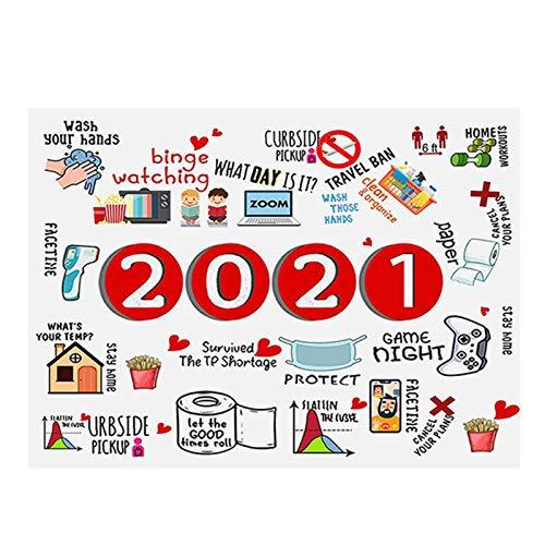 Ammily Manta conmemorativa 2020/2021 de gran tamaño con memoria, ideal como regalo para cama, sofá, silla, camping