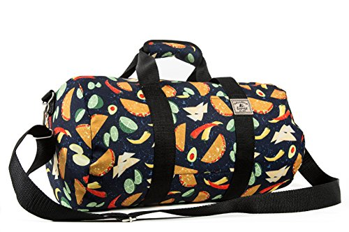 Everest Pattern 16-inch Round Duffel, Tacos, One Size,P1609-TACOS