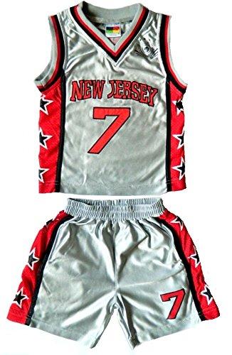 Fashion Oasis Kinder Jungen Basketball-Satz Boston, Chicago, Hawaii, Miami, New Jersey, New York, Olympia, Santa Fe, Texas Alter 6 Monate bis 12 Jahre