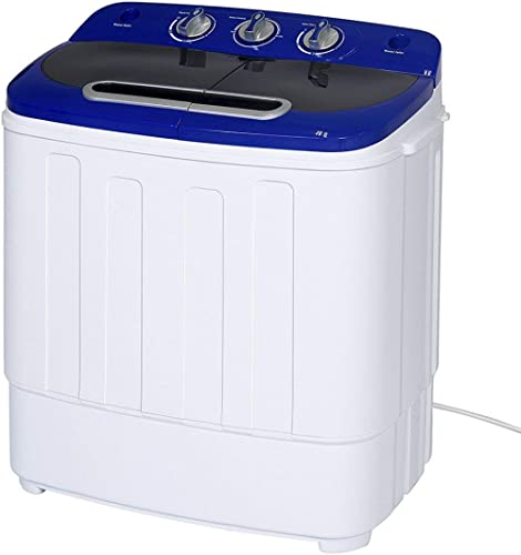 Display4top Portable Charge supérieure 3.8kg Bleu machine à laver - Lave-linge portable - Prise standard européenne