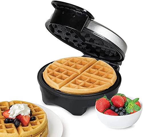 Piastra Per Waffle Belga 1000W , Macchina Per Waffle Elettrica Antiaderente, Acciaio Inossidabile, Indicatori Luminosi, Buchi Profondi, Controllo della Temperatura Regolabile