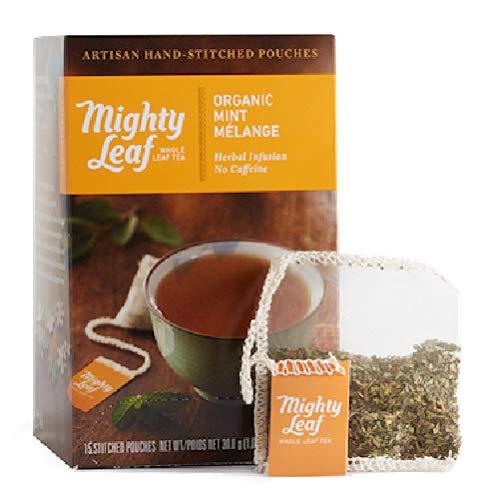Mighty Leaf(マイティーリーフ) オーガニック ミント メレンゲ 15袋 【正規輸入品】