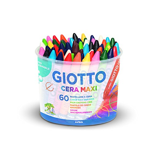 Giotto Cera Maxi - tizas, 60 piezas, colores surtidos