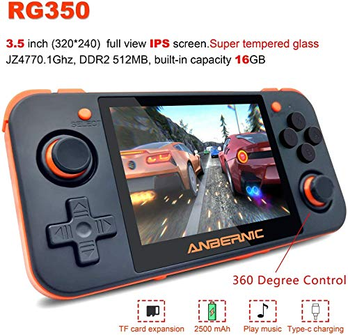 astolily Retro Games Upgrade Game Console Handheld Game Console RG350 IPS