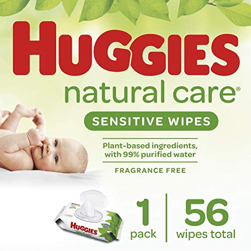 Huggies Natural Care Fragrance Free Baby Wipes,448 Total Wipes 56 Count (Pack of 8)