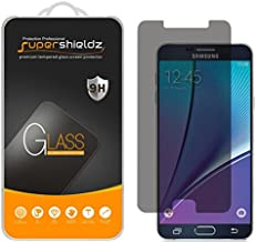 (2 Pack) Supershieldz Designed for Samsung Galaxy Note 5 (Privacy) Anti Spy Tempered Glass Screen Protector, Anti Scratch, Bubble Free