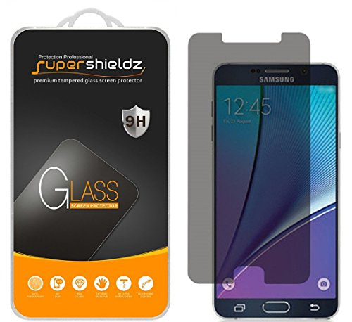 (2 Pack) Supershieldz for Samsung Galaxy Note 5 (Privacy) Anti Spy Tempered Glass Screen Protector, Anti Scratch, Bubble Free