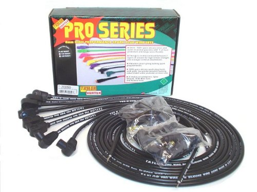 Taylor Cable 70050 8mm Pro Wire Black Spark Plug Wire Set