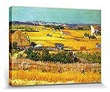 1art1 Vincent Van Gogh - La Cosecha, Llanura De Crau Cerca De Arles, 1888 Cuadro, Lienzo Montado sob...