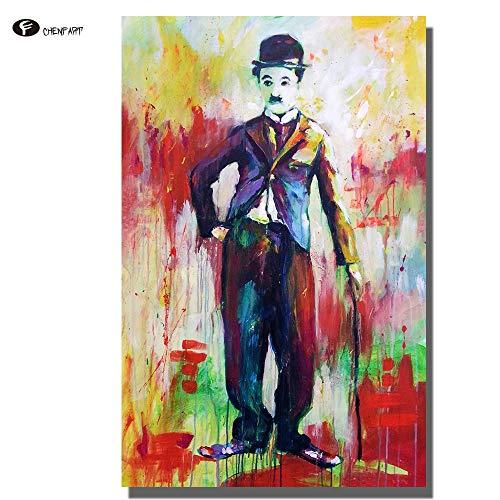 Santangtang canvas schilderij beroemdheid portret poster en afdrukken wandafbeeldingen voor de woonkamer olieverfschilderij wooncultuur zonder lijst