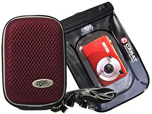 Foto Kamera Tasche Hardbox Plum Set mit Unterwasserbeutel für Sony DSC-RX100 V HX80 Sony DSC- RX100 IV WX500 HX90V RX 100III HX60V