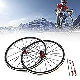 DYRABREST 700C Bicycle Wheel Road Bike Front Rear Wheels Ultra Light Rim Brake C/V for 7/8/9/10/11 Speed Wheelset