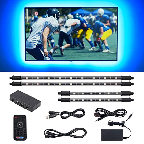 LEDGlow 4pc Million Color LED Home Theater TV Accent Bias Lighting Kit - (2) 15