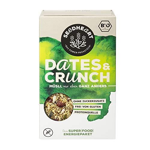 Seedheart Dates & Crunch 275gr Bio Saaten-Kerne-Müsli Datteln Chia Hanfsamen   Protein   Glutenfrei   Kein Getreide   Ohne Zucker   Superfood   Amaranth Quinoa