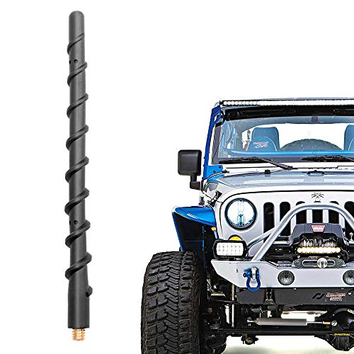 VOFONO 9 Inch Spiral Antenna for Jeep Wrangler JK JKU JL JLU Rubicon Sahara Gladiator(2007-2019)