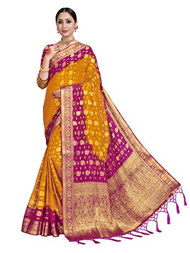 HAOK Sarees For Banarasi Georgette Silk Indian Sari | Boda Tradicional tejida...