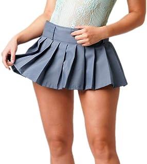 Divas Grey Micro Mini Ladies Women Pleated School Girl Skirt UK Sizing S-XXL