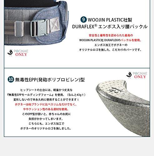 【日本正規取扱商品】POGNAE(ポグネー)NO5neo(ナンバーファイブネオ)ヒップシートキャリア抱っこひも[日本正規品保証付]/PG-NO5-NEOデニムブルー