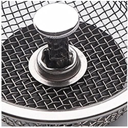 Cánula de tapón de lavamanos Caja de lavado de cocina Lavavajillas Lavavajillas Filtro de placa de acero inoxidable Bloqueo de alcantarillado Accesorios