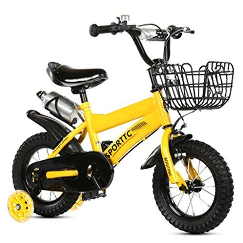 Les vélos d'enfants 12/14/16/18/20 Pouces bébé Mountain Bike Cadeau créatif Mode Mignon garçon Fille réglable Jaune Blanc (Couleur : N ° 3, Taille : 12 inches)